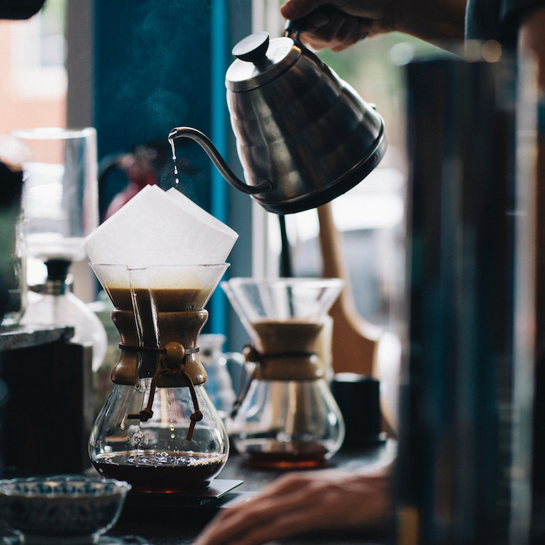 Using the story of using a pour-over coffeemaker to explain using narratives for customers' experiences.